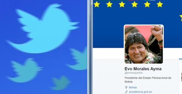 Morales ingresó a Twitter el 15 de abril, a la fecha tiene más de 35.000 seguidores, sigue a 5 cuentas