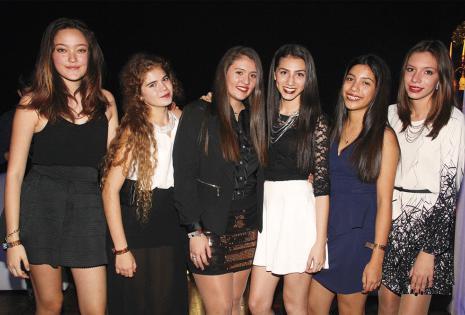 Florencia Ramírez, Sol Caballero, Mariana Urioste, María Fernanda Ardaya, Flavia Parada y Anelí Suárez