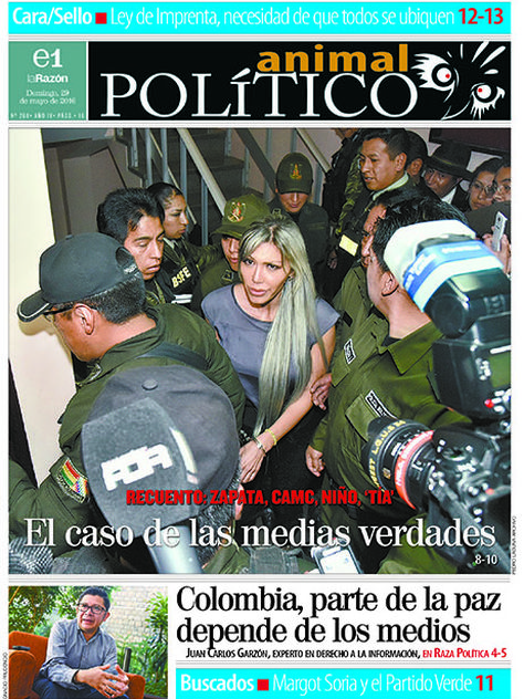 Portada de Animal Político, domingo 29 de mayo de 2016