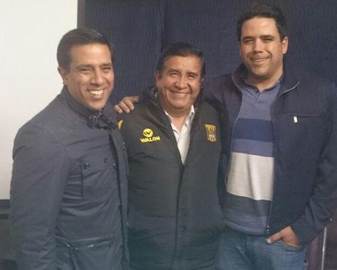 César Farías (izq.), César Salinas y Daniel Farías.