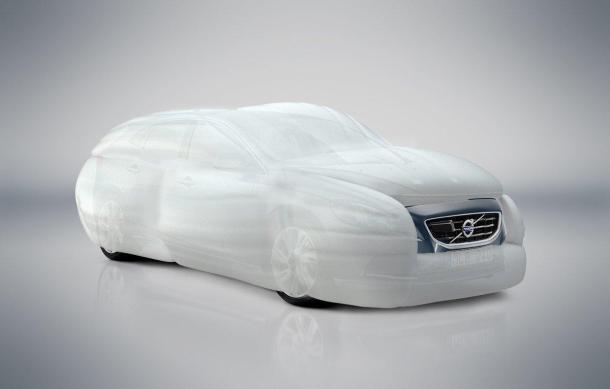 Sistema de airbags externo patentado por TRW y adquirido por Volvo