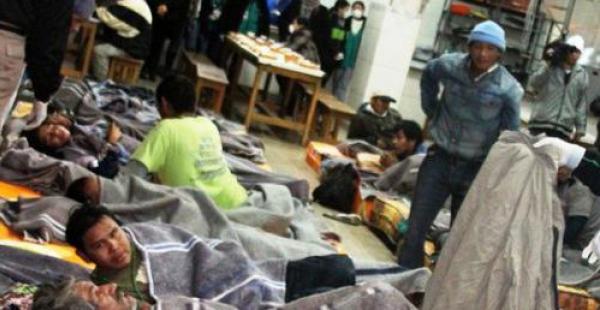 El albergue para los necesitados está en la exterminal de buses, en la esquina de las av.Cañoto e Irala