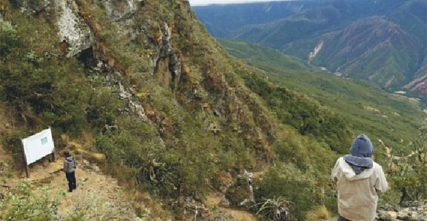 Uno de los atractivos naturales de la zona es el camino de los incas