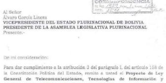 Proyecto de ley general de telecomunicaciones, tecnologías de información y comunicación