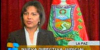 Ex esposa de ministro de Gobierno asume como presidenta de la Corte de Justicia de La Paz
