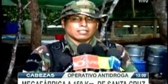 Santa Cruz. Operativo de la FELCN encuentra megafábrica de droga