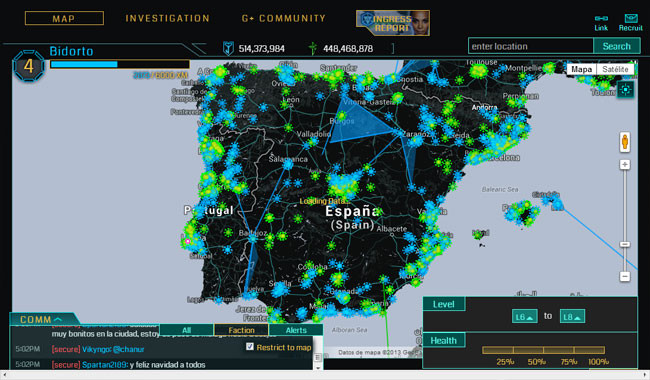 Ingress - Mapa