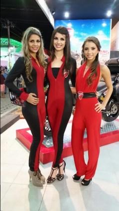 Azafatas: Danielly Carvallo, Ana Luiza Vasconcellos, María Belen Roda (Ducati)