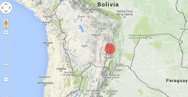 Un sismo de profundidad superficial fue sentido en Chuquisaca la madrugada de este miércoles