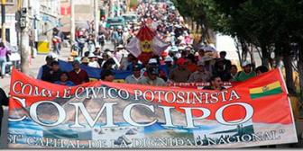 Comité Cívico de Potosí analiza si acude a llamado de diálogo de Evo en Uyuni