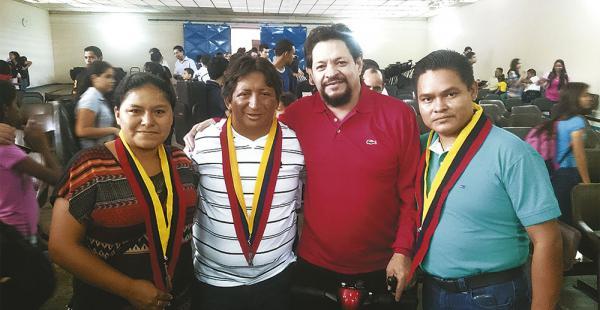 María Eugenia Vázquez, Édgar Salazar, Franz Terceros y Juan Carlos Aguape en la cita en Venezuela