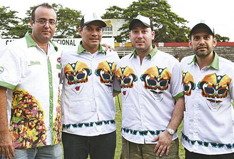 'Leo' Cronenbold, Fernando Suárez, Guillermo Parada y Mauricio Fernández