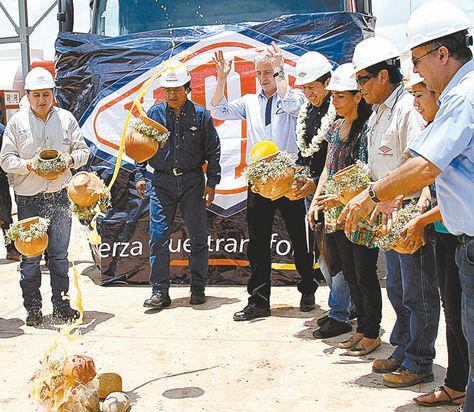 Santa Cruz. Inauguración de la Planta de GNL en Río Grande.