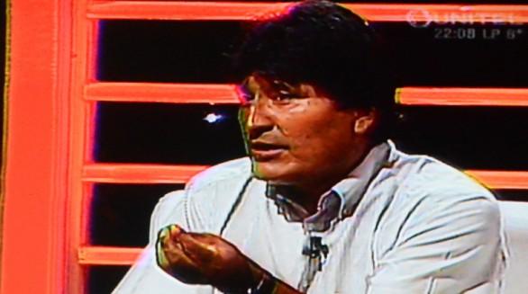 Evo Morales, entrevistado en el programa El abogado del Diablo, anoche. -   Unitel Agencia