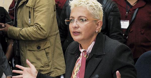 La diputada Susana Rivero,    del MAS, preside la comisión