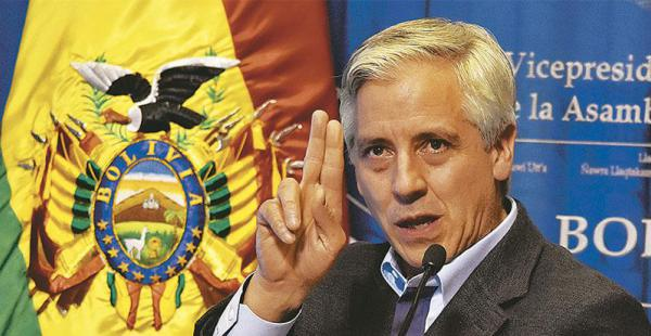 El vicepresidente García Linera arremetió contra Quiroga.