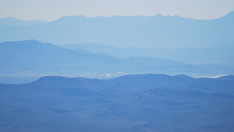 Área 51 desde Tikaboo Peak