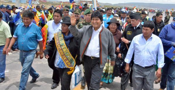 El presidente Evo Morales estuvo en Oruro el fin de semana inaugurando obras