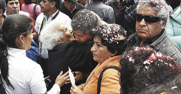 Los sentenciados recibieron el apoyo de pobladores chuquisaqueños