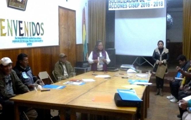 CISEP da a conocer acciones de desarrollo con organizaciones sociales y vecinales de Oruro