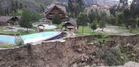 Deslizamiento en la zona de Jupapina. Foto: Guido Huanca Huayta