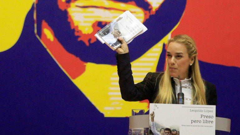 Lilian Tintori, en Madrid al presentar el libro de Leopoldo López