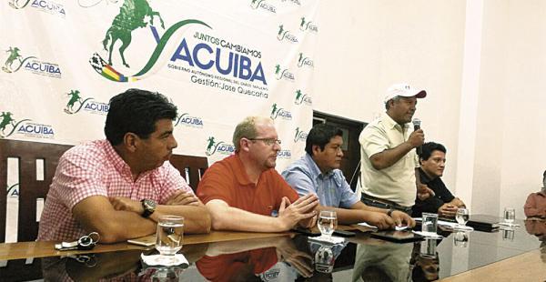 La reunión fue en la Subgobernación de Yacuiba para tratar el tema de Prosol y el servicio agropecuario