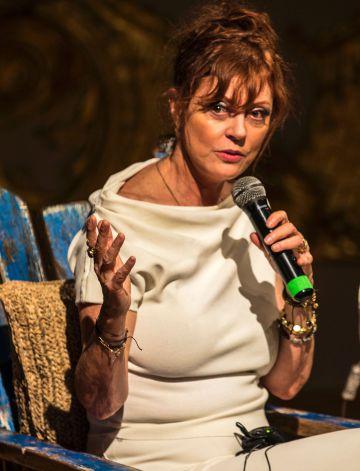 Susan Sarandon, durante una charla en Cartagena (Colombia).