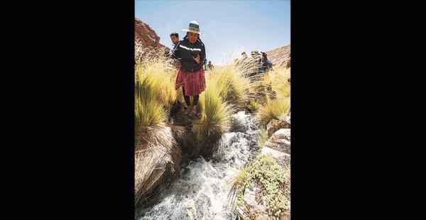 Una comitiva boliviana estuvo el martes en la zona donde nace el Silala