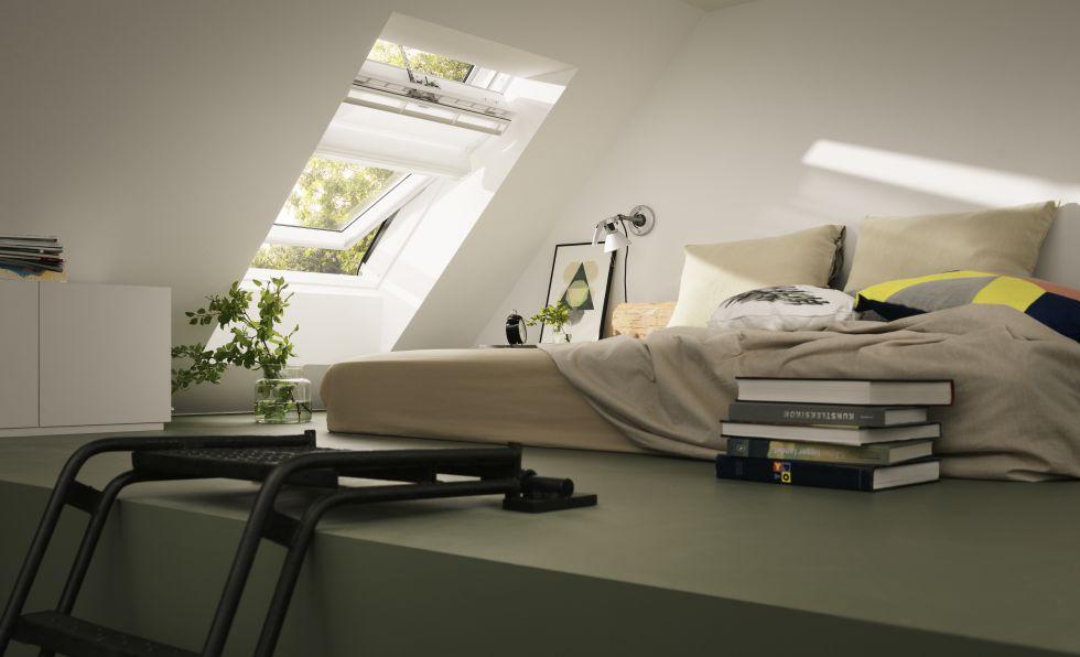 El éxito de una buhardilla está en sus ventanas. La superficie acristalada debe ser un 15%.