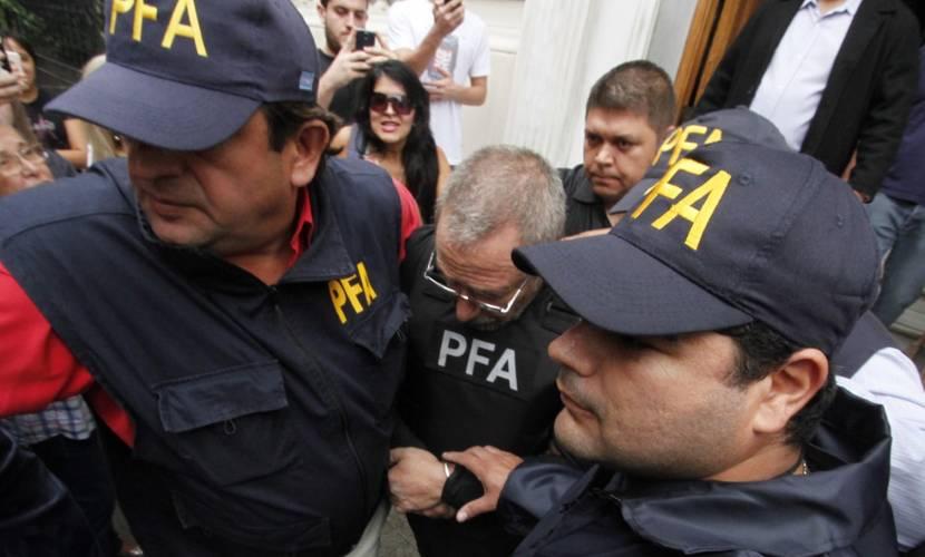 Ricardo Jaime detenido en Córdoba. (Daniel Cáceres)