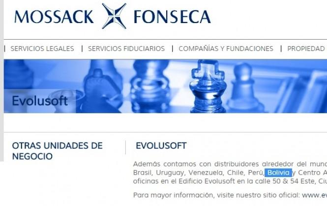 La firma Mossack Fonseca tendría presencia de su filial E-volusoft en Bolivia