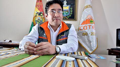 El presidente del Consejo de Administración de la Cooperativa de Teléfonos (Cotel) de La Paz, Fabián Guillén.
