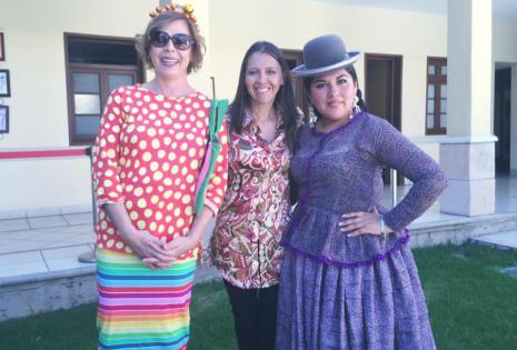 Agatha Ruiz de la Prada, Pamela Alarcón y Eliana Paco