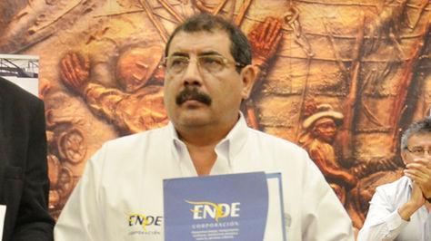El presidente de la Empresa Nacional de Electricidad (ENDE), Eduardo Paz.