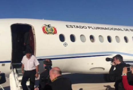 Así llegó Evo Morales a Roma