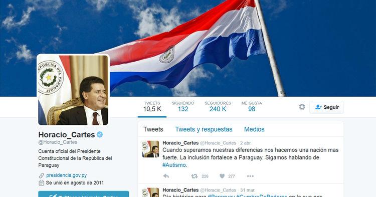 Cuenta Horacio Cartes, presidentes de Paraguay @Horacio_Cartes