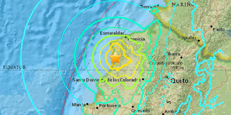 Ubicación el epicentro donde se originó el sismo.