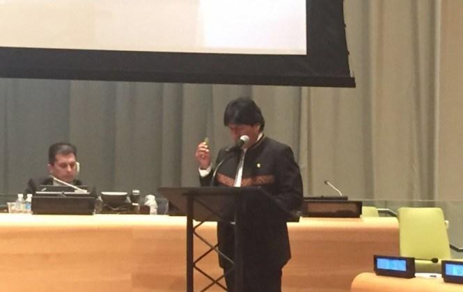 Ante la ONU, Evo pide disolver la DEA y levantar el secreto bancario
