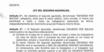 Ingresa Proyecto de Ley para que Doble Aguinaldo sea obligatorio y Ley