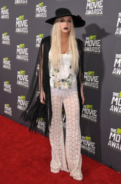 La cantante Kesha en MTV Movie Awards de 2013.