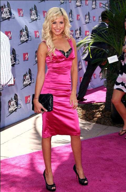 Ashley Tishdale en los premios de 2007.
