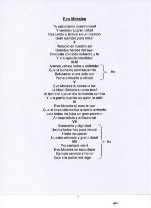 El Ejército compone himno para Evo y ministro asegura que Alto Mando aún no lo aprueba