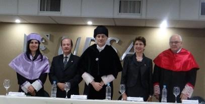 Autoridades academicas de la UPV y UPSA