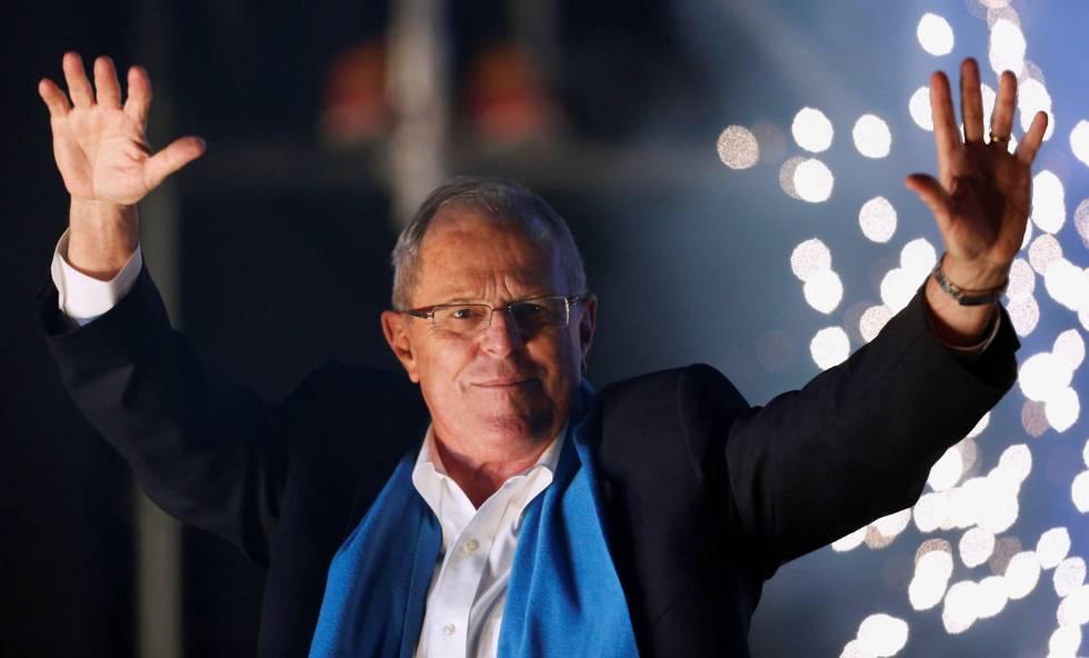 Pedro Pablo Kuczynski hace campaña en Lima