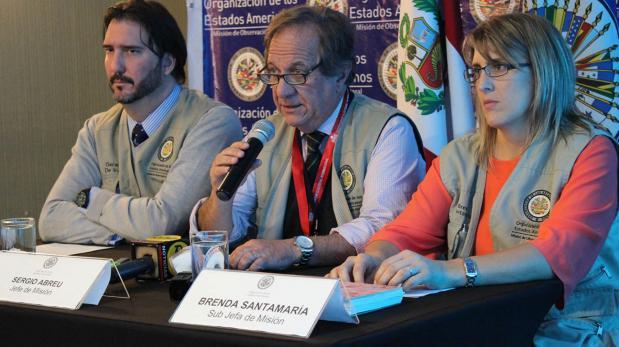 Misión de la OEA: No hubo problemas durante la segunda vuelta