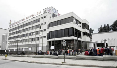 El edificio principal de la CBN en La Paz