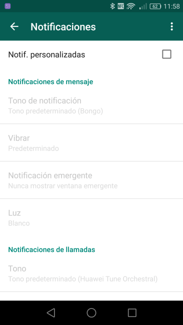 Notificaciones personalizadas WhatsApp