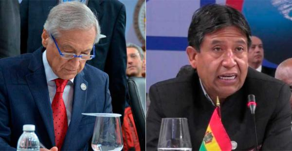 Los ministros de ambos países hicieron uso de la palabra para exponer los argumentos respecto a los temas pendientes que existen.