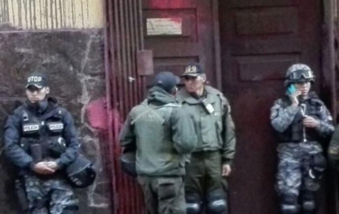 Magisterio urbano continúa en vigilia dentro del Ministerio de Trabajo